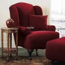 Sure Fit Dual Reclining Sofa Slipcover by Reclining Sofa Slipcover Spice Red Ribbed Texture Adapted For Dual