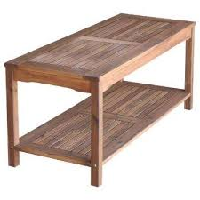 Boardwalk Brown Acacia Wood Outdoor Coffee Table