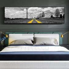 große größe schlafzimmer nacht leinwand malerei asphalt straße streifen gemälde abstrakte kunst hotel malerei hotel room decor wand kunst