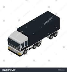 Commercial Freight Truck Isometric Icon Modern Stock Vector (Royalty ...