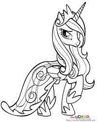 Princess Cadence Coloring Pages My Little Pony Cadance And Shining Armor