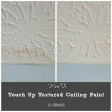 Patching Popcorn Ceiling Paint by How To Touch Up Textured Ceiling Paint Reinvented