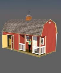 this 12x16 gambrel roof shed would make the perfect tiny house it