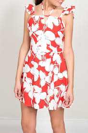 j o a red floral print dress from virginia by mod u0026soul u2014 shoptiques