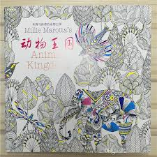 Book Secret Garden Style Books 11Animal Kingdom Coloring For Relieve Stress Graffiti Art Painting Drawing Kill Time Ing Kids Colouring