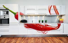 Modern Wall Decoration With Photo Wallpaper Kitchen Paprika Pointed Figure
