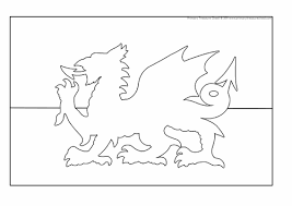Welsh Flag Colouring Sheet By PrimaryTreasureChest