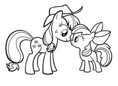 My Little Pony Applejack And Apple Bloom Coloring Page DownloadPrint Pages