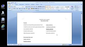Text Decoration Underline More Space by Microsoft Word 2007 Underline Text Or Spaces Youtube