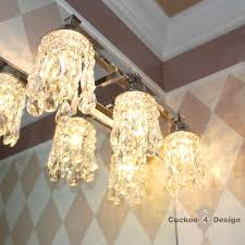 Chandelier Over Bathroom Vanity by Diy Crystal Vanity Shades Cuckoo4design