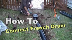 2 Perforated Drain Tile by How To Connect French Drain To Existing Pipe Youtube