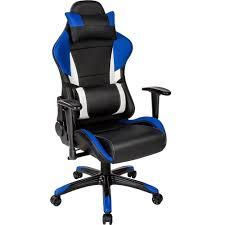 fauteuil de bureau noir fauteuil de bureau racing sport 3 rembourrage épais tectake