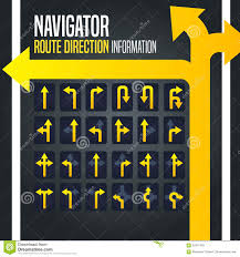 100 Truck Route Driving Directions Navigator Direction Arrow Stock Vector Illustration