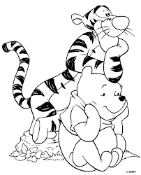 Full Image For Disney Coloring Pages Printable Winnie The Pooh Kids Color
