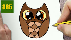 HOW TO DRAW A OWL CUTE Easy Step By Drawing Lessons For Kids