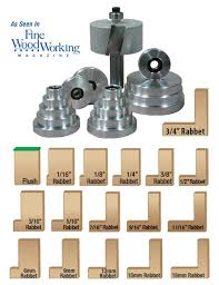 mega rabbet router bit and bearing set joinery router bit sets