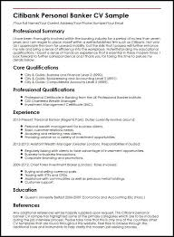 Banking Resume Sample Citibank Personal Banker Cv Well Although