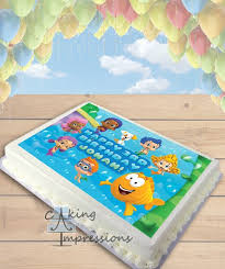 Bubble Guppies Cake Toppers by Bubble Guppies Edible Image Sheet Cake Topper