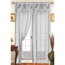 Lace Curtains Panels With Attached Valance by Window Curtains Goingdecor