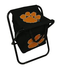 Clemson University Tigers Logo Portable Folding Cooler Seat Ncaa Zero Gravity Clemson Orange Chair Black Tigers Recling Camp Folding Chairs College Covers Textilene Pine Rocking Replacement Sling With Pillow Pnic Time University Sports With Digital Logo Academy Lcc12331 Round Table 30in Oversized Gaming Brands Elite