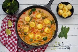 gemüse curry mit knödelinos mild für kinder