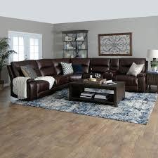 Portofino 6PC Sectional In Brown Jeromes Furniture Home