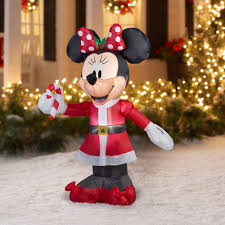 Gemmy Airblown Christmas Inflatables 5 Disney Minnie With Candy Cane