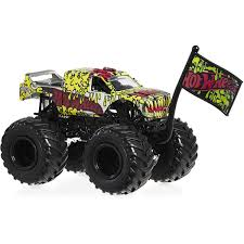 Hot Wheels Monster Jam 1:64 Scale Vehicle - Assorted* | BIG W Toys Monster Trucks New Bright Jam 115 Scale Remote Control Vehicle Grave Hot Wheels Demolition Doubles 2pack Styles May Vary Toysrus Big Truck The Animal Camion Monstruo Juguete Toy Review Youtube Childhoodreamer Cars For Girls Rc Coolest 14 Ever Complete With Killer V8 Amazoncom Velocity Jeep Wrangler Fisherprice Nickelodeon Blaze The Machines