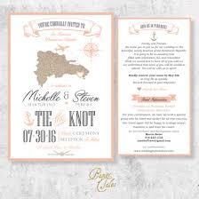 Dominican Republic Destination Wedding Invitation Set – PaperTales