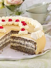 mohn marzipan torte backen so geht s lecker kuchen und
