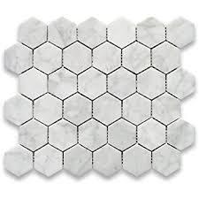 carrara white italian marble hexagon mosaic tile 1 inch