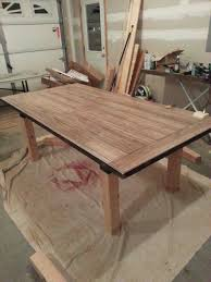 Dining Table Extension Laminate Flooring As The Top Within A Steel Rhcom Ana White Farmhouse With