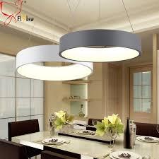 moderne runde led anhänger beleuchtung für esszimmer