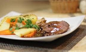 cuisiner du boeuf rôti de filet de boeuf et ses légumes au four