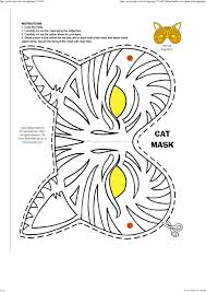 Halloween Cat Mask Template