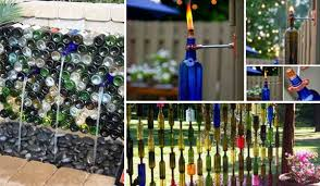 Decorative Wine Bottles Crafts by 19 Easy Diy Ideas Decorate Outdoor Space With Wine Bottles