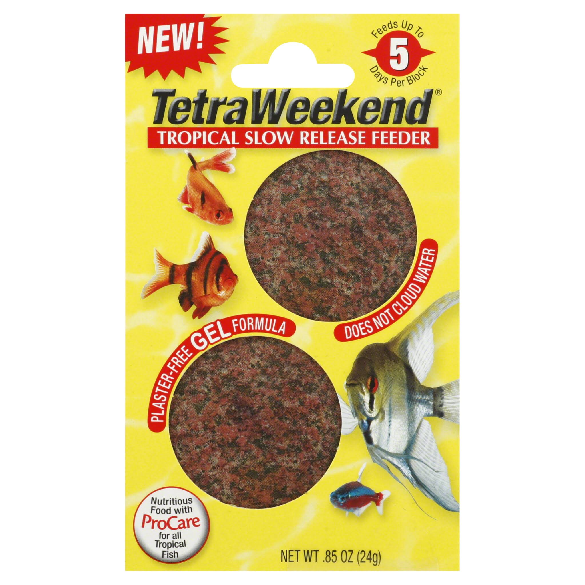 Tetraweekend Tropical Slow Release Feeder Fish Food - 24g