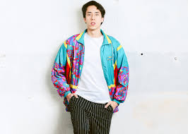 Men Bold Shell Jacket 90s Windbreaker Zip Up Sports Boyfriend Wear Retro Activewear Mens Clothes Size Small S