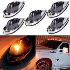 100 Truck Clearance Lights Universal Teardrop Style Smoke Cab Roof Marker Kit