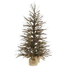 The Holiday Aisle 2 Brown Vienna Twig Artificial Christmas Tree Reviews