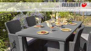 Outsunny Patio Furniture Assembly by Allibert Trenton Wicker Chair Assembly Video Youtube