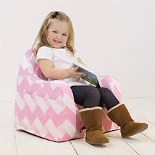 amazon com p kolino little reader chair zigzag pink baby
