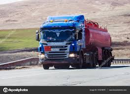 100 Scania Truck Truck Tractor With Tanker On The Road Stock Editorial Photo