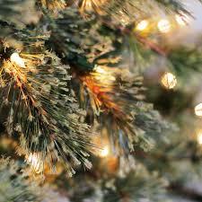 75 Ft Pre Lit Jasper Cashmere Artificial Christmas Tree Clear
