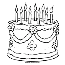 Printable Birthday Greeting Cards Coloring