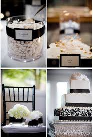 Elegant White And Black Winter Wedding Cake Decor Inspiration