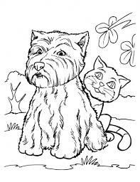 Impressive Dog And Cat Coloring Pages Design Gallery