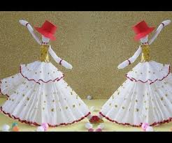 DIY Paper Crafts How To Make Amazing Dancing Doll From Tissue 5 Steps