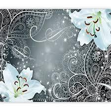 murando fototapete selbstklebend blumen lilien 49x35 cm