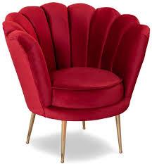 casa padrino designer deco wohnzimmer sessel rot messingfarben 80 x 50 x h 80 cm deco wohnzimmer möbel
